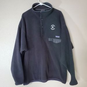 Patagonia black synchilla snap t fleece pullover